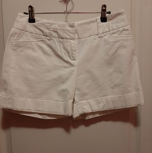 The Limited Drew Fit White Shorts